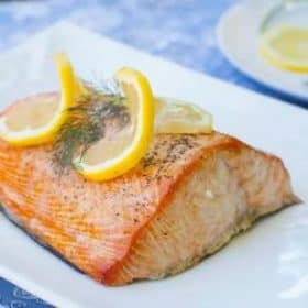 Planked Smoked Salmon with Seasoned Butter Sauce