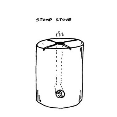 Stump Stove