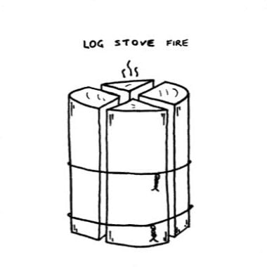 Log Stove Fire