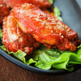 Spicy Cranberry Chicken Wings