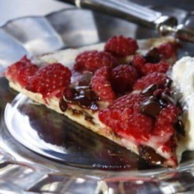 Grilled chocolate raspberry dessert 2