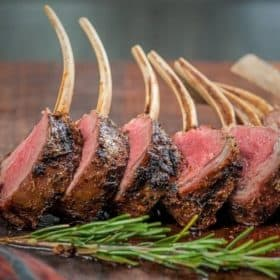 Grilled Rack of Lamb Reverse Sear