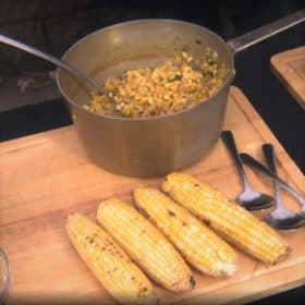 BBQ Cream Corn with Smoky Poblano Peppers