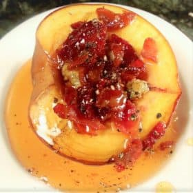 Bacon Stuffed Peaches