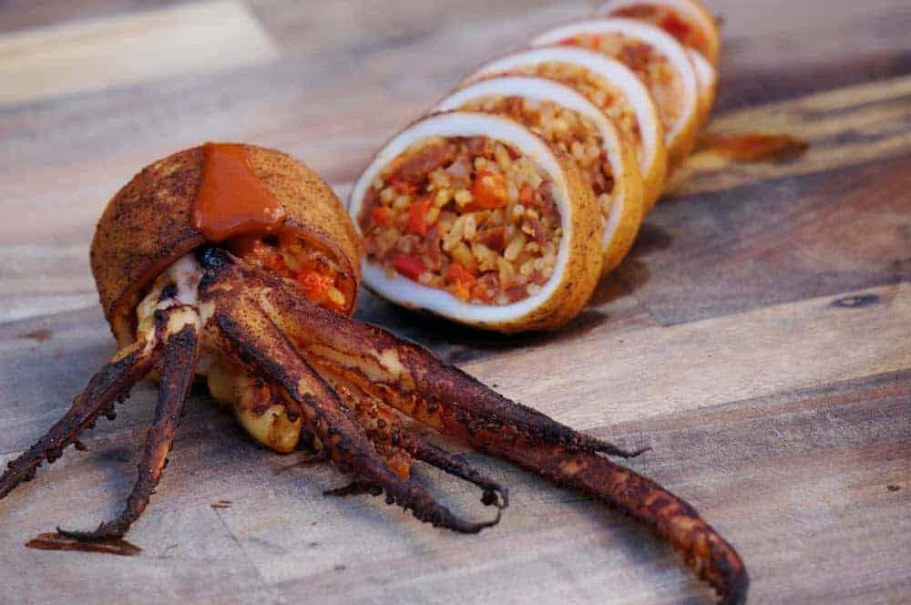 BBQ Stuffed Squid