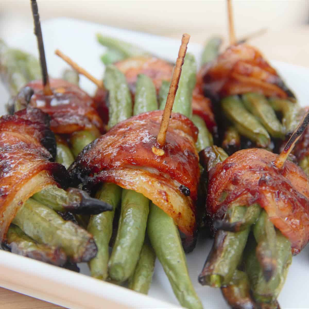 Grilled Bacon Wrapped Green Beans