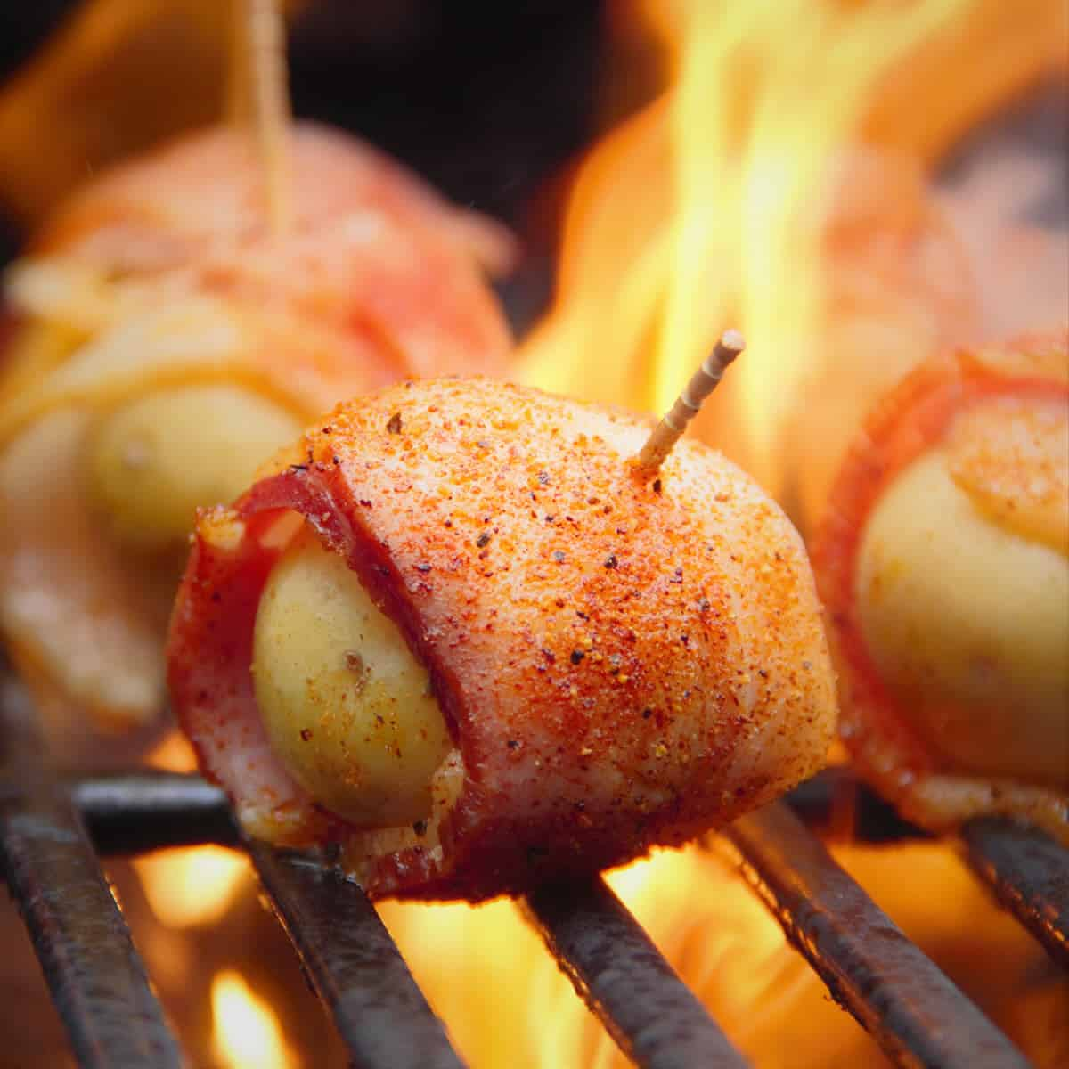 Grilled Bacon Wrapped Potatoes
