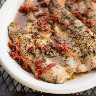 Charcoal Seared Trout Fillet with Sundried Tomato Brown Butter