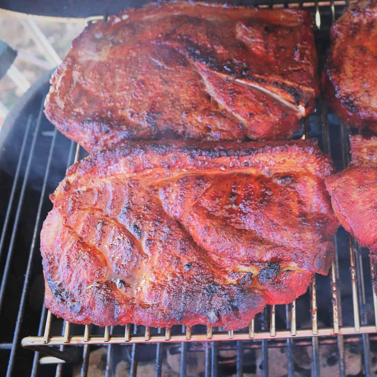 Grilled Pork Butt Steaks