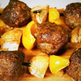 Plank Meatball Kebabs