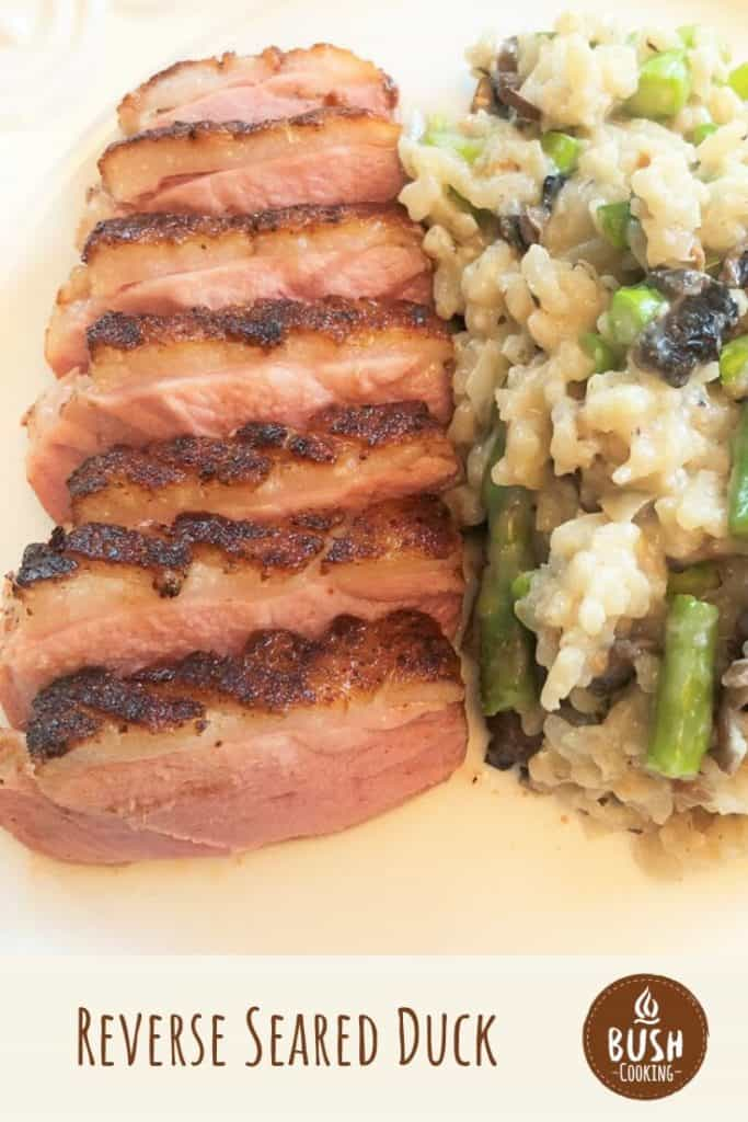 It can be tricky to cook duck breast well but it is done to moist perfection with the reverse sear method, then finished with a mild bbq sauce to glaze. #bushcooking #duck #reversesear