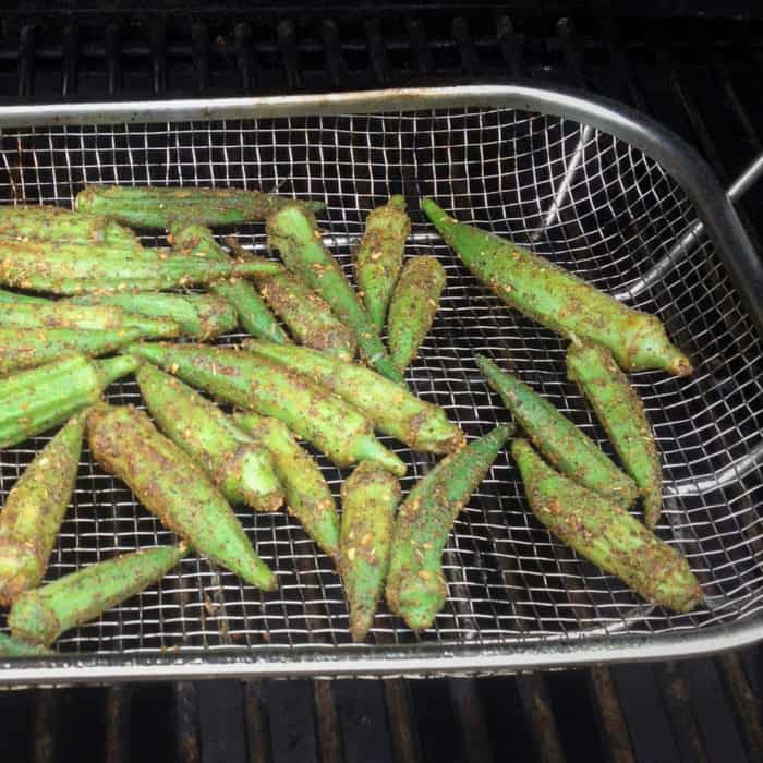 If you are looking for a simple vegetable side dish try this barbecue okra recipe that uses this fresh vegetable popular with southern American cuisine. #bushcooking #okra
