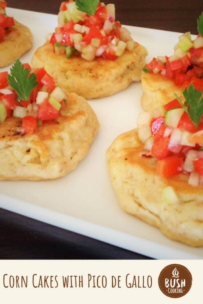 This southern combination of fresh vegetables like corn, cucumber and tomato create a healthy and flavorsome finger food. #bushcooking #picodegallo