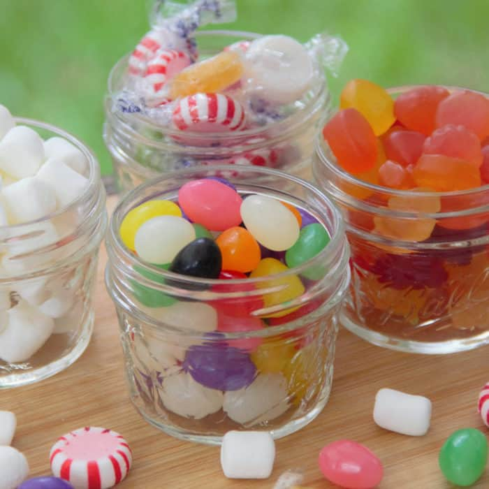 Jars of various candy